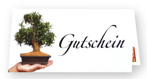 Geschenkgutschein von bonsai.de
