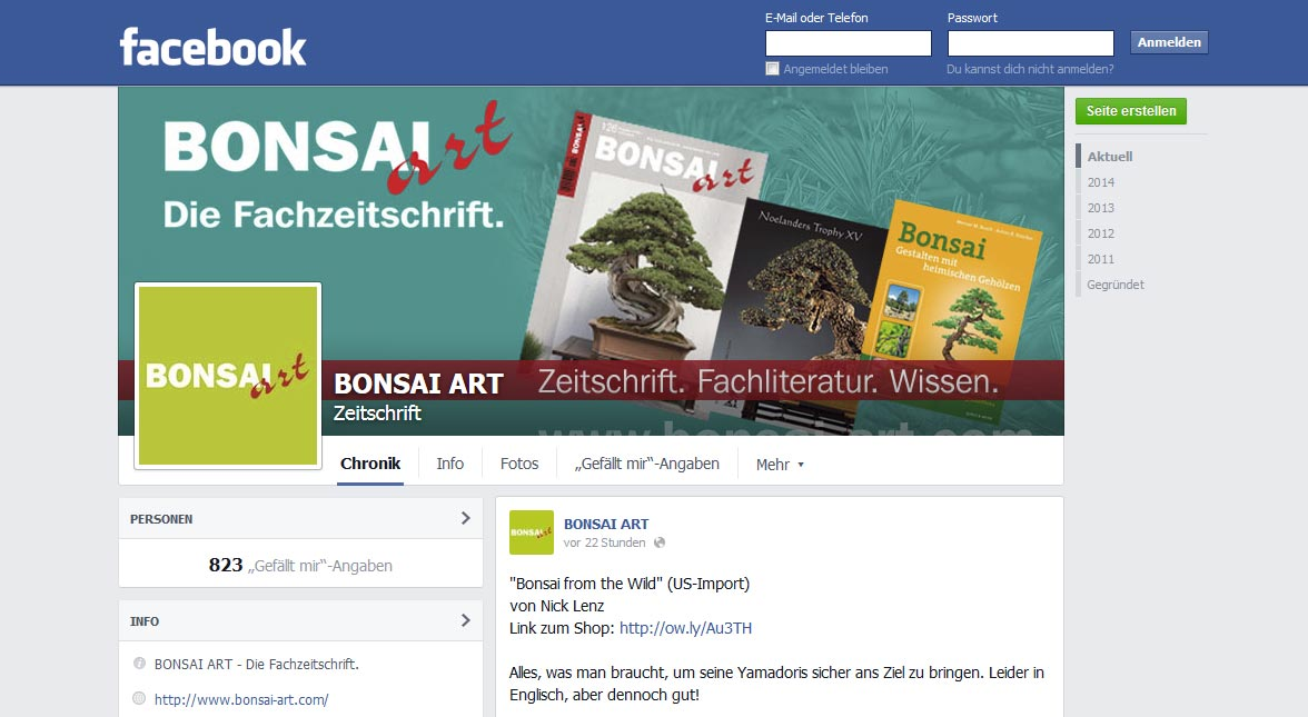 BONSAI ART bei Facebook